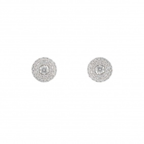 18k White Gold Diamonds Earrings 2.24ct